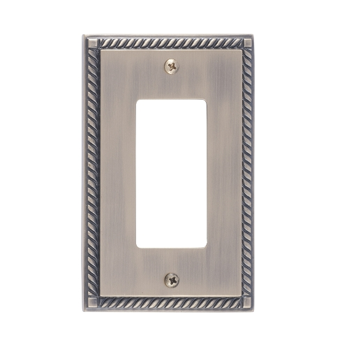 Brass Accents M06-S8520-609 Georgian Single GFCI Switch Plate