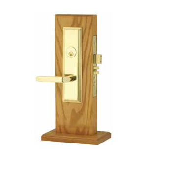 Emtek Manhattan Mortise Entrance Lockset with Milano Lever