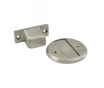 Deltana MDHF25 Flush Magnetic Door Stop & Holder in Satin nickel (US15)