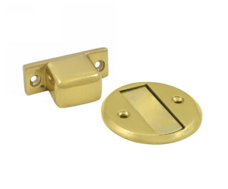 Deltana MDHF25 Flush Magnetic Door Stop & Holder in Polished Brass (US3)