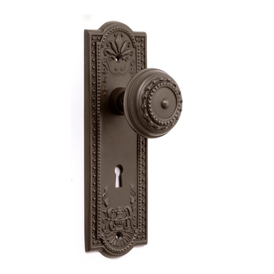 how to replace a keyhole door knob | Nostalgic Warehouse Meadows Backplate Privacy Mortise Lock ...