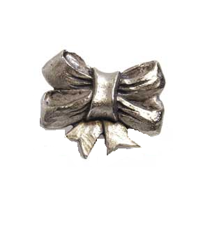 Emenee MK1051 Ribbon Cabinet Knob in Antique Matte Silver (AMS)
