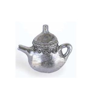 Emenee MK1055 Teapot Cabinet Knob in Antique Matte Silver (AMS)