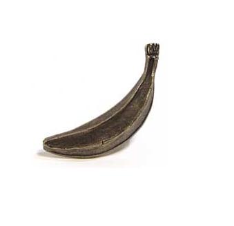 Emenee MK1059 Banana Cabinet Knob in Antique Matte Brass (ABR)