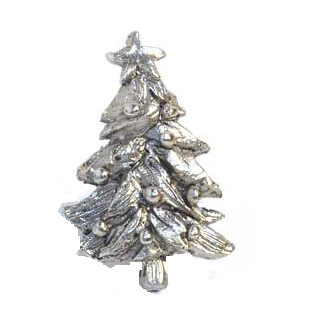 Emenee MK1102 Christmas Tree Cabinet Knob in Antique Matte Silver (AMS)