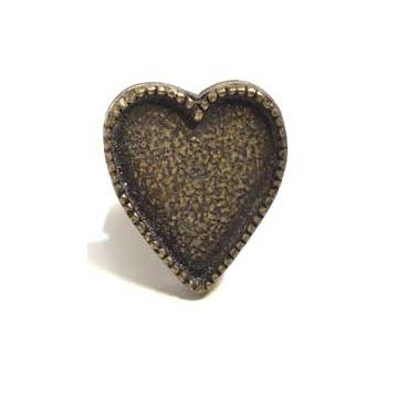 Emenee MK1204 Heart Cabinet Knob in Antique Matte Brass (ABR)