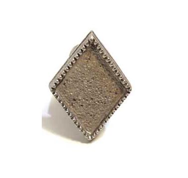 Emenee MK1205 Diamond Cabinet Knob in Antique Matte Brass (ABR)