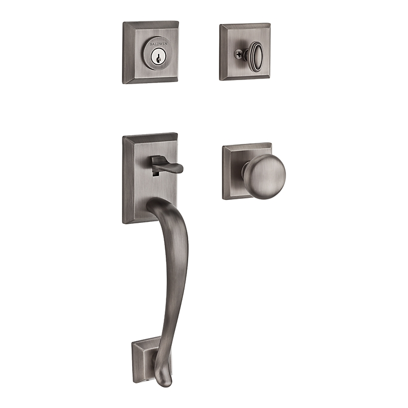 Baldwin Reserve Napa (NAP) Handleset Shown In Matte Antique Nickel (152)