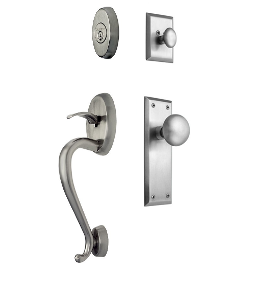 Nostalgic Warehouse Oxford Park Handleset New York Interior Satin Nickel (SN)