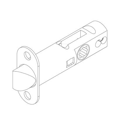 Grandeur Passage Latch With 2 3/8 inch backset