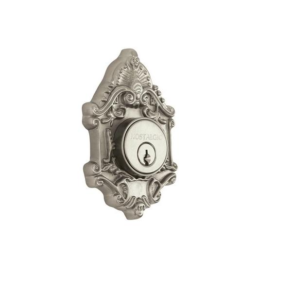 Nostalgic Warehouse Victorian Single Cylinder Deadbolt Satin Nickel (SN)