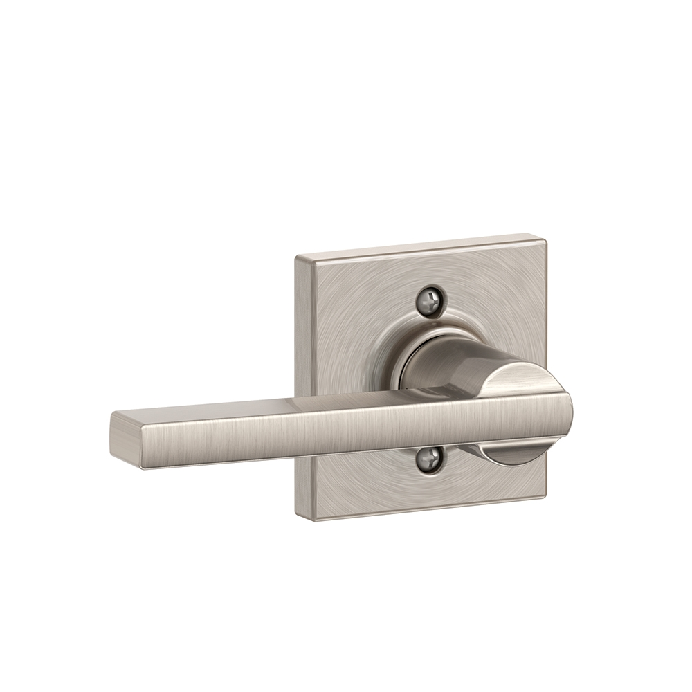 Schlage F170-LAT-COL Latitude Single Dummy Door Lever Set with Collins Rose
