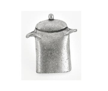 Emenee OR142 Stock Pot Decorative Cabinet Knob shown in Matte Silver (AMS)