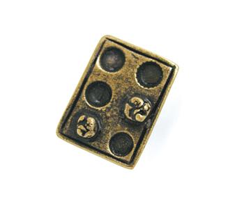 Emenee OR150 Muffin Tin Cabinet Knob shown in Matte Antique Brass (ABR)