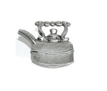 Emenee OR151 Tea Pot Cabinet Knob shown in Antique Matte Silver (AMS)