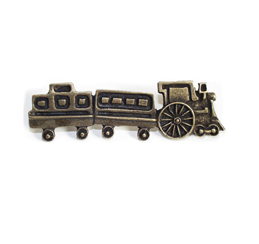 Emenee OR256 Train Cabinet Pull in Antique Matte Brass (ABR)