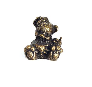 Emenee OR259 Bear Cabinet Knob in Antique Matte Brass (ABR)