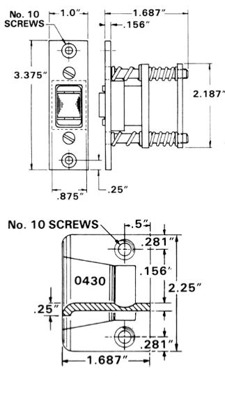 Baldwin 0430 Extra Heavy Duty Roller Latch W Full Lip