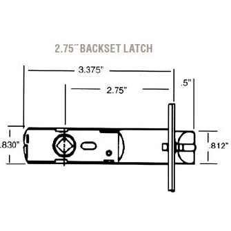 Baldwin Estate 5525 Lever Strength Passage Latch With 2 3