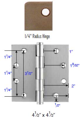 Emtek 4 1 2 Quot X 4 1 2 Quot Plated Steel Radius Corner Heavy