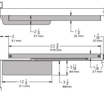 Lcn 4041t Surface Mount Track Door Closer Low Price Door