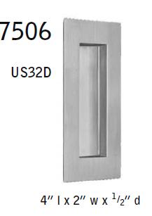 Omnia 7506 Rectangular Flush Pull Low Price Door Knobs