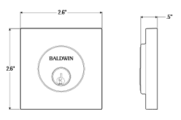 Baldwin Estate 8220 Contemporary Square Single Cylinder