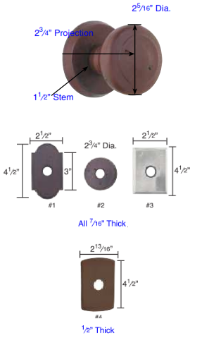 Emtek Sandcast Bronze Butte Door Knob Set Low Price Door