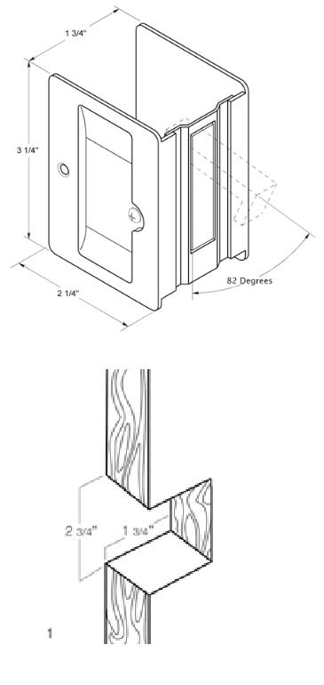 Deltana Sdla325 Heavy Duty Privacy Pocket Door Lock Low