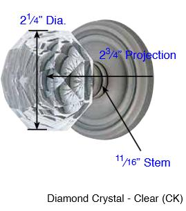 Emtek Sandcast Bronze Diamond Crystal Door Knob Set Low