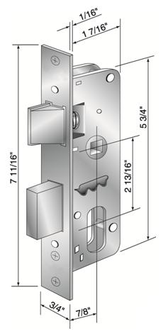Lock Body Dimensions