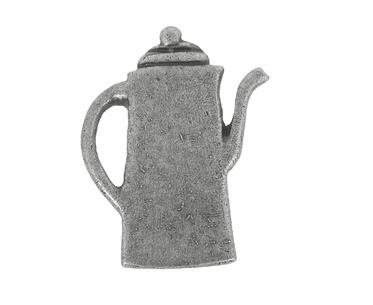 Emenee Coffee Pot Cabinet Knob shown in Antique Matte Silver (AMS)