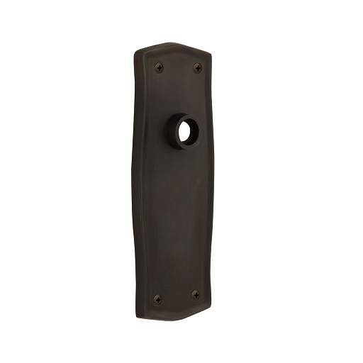 Nostalgic Warehouse Prairie Plate Without Keyhole Passage Oil Rubbed Bronze