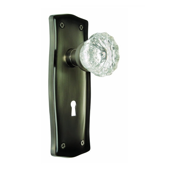 Nostalgic Warehouse Prairie Backplate with Crystal knob AP Antique Pewter