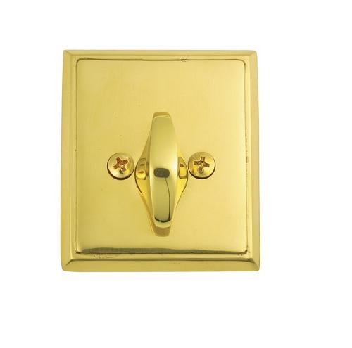 Emtek 8568 Rectangular Style Single Sided Deadbolt Polished Brass (US3)