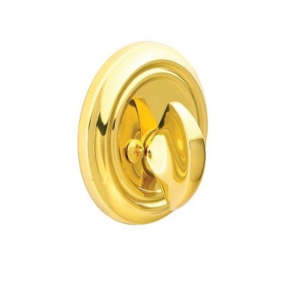 Emtek 8550 Solid Brass Single Sided Deadbolt Polished Brass (US3)