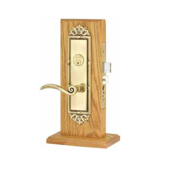 Emtek Regency Mortise Entrance Lockset with Elan Lever French Antique