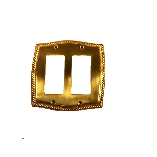 Brass Accents Rope Double GFCI Switch Plate