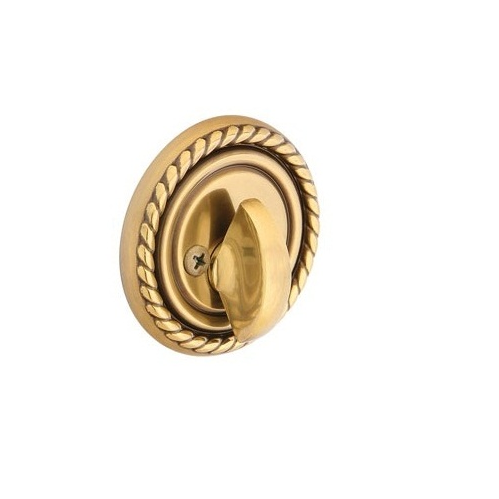 Emtek 8564 Rope Single Sided Deadbolt Polished Brass (US3)