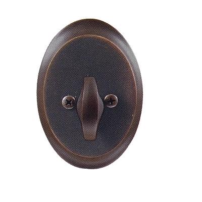 Emtek 8458 Saratoga Single Cylinder Deadbolt Oil Rubbed Bronze (US10B)