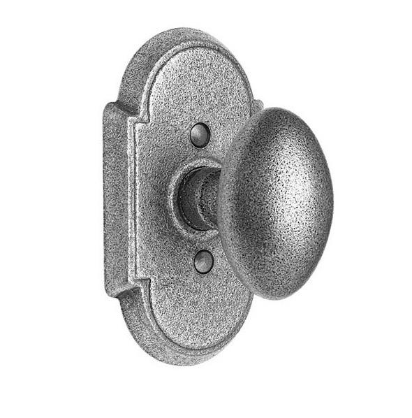 Emtek Savannah Door Knob Set with #1 Rose Satin Steel