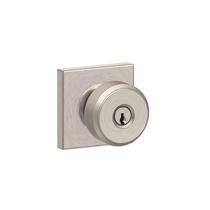 Schlage F51A-BWE-COL Bowery Keyed Entry Door Knob Set with Collins Rose