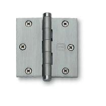 "Omnia Solid Brass 3 1/2"" x 3 1/2"" Square Corner Hinge"