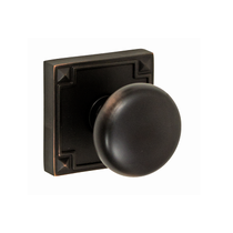 Fusion Sonoma Half Round Door Knob 01 with Sonoma Rose Oil Rubbed Bronze
