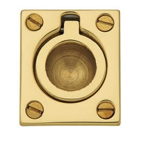 Baldwin 0392 Flush Ring Pull in Polished Brass (030)