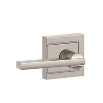 Schlage F10-LAT-ULD Latitude Passage Door Lever Set with Upland Rose
