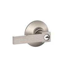 Schlage F51A-NBK Northbrook Keyed Entry Door Lever Set