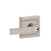 Schlage F51A-NBK-ULD Northbrook Keyed Entry Door Lever Set with Upland Rose