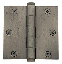 Baldwin 1035 31/2 x 3 1/2 Square Corner Hinge Distressed Antique Nickel (452)