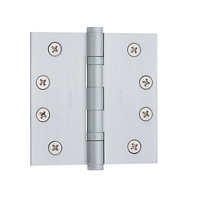 "Baldwin 1041 Brass 4"" x 4"" Ball Bearing Square Corner Hinge Satin Chrome (264)"